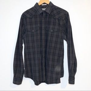 Express Fitted Snap Down Large Shirt